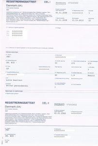 Certificat Danemarca 1