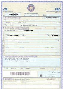 Certificat proprietate Italia